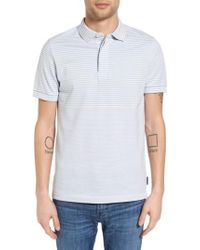French Connection - Blue Menon Block Stripe Polo for Men - Lyst
