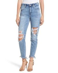 Blank NYC - Blue The Rivington Ripped Straight Leg Jeans - Lyst