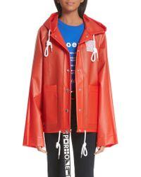 Proenza Schouler - Red Pswl Graphic Raincoat - Lyst