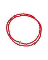 Luis Morais - Red Ruby And Gold Enamel Wrap Bracelet - Lyst