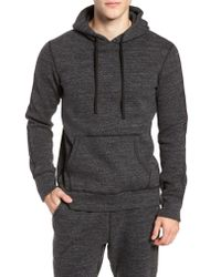 Reigning Champ Gray Trim Fit Side Zip Hooded Sweatshirt for men