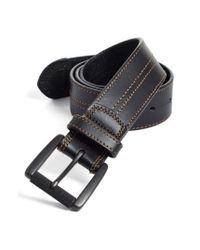 Johnston & Murphy | Black Leather Belt for Men | Lyst