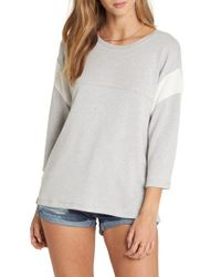 Billabong - Gray Kicking Game Sweatshirt - Lyst