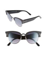 Tom Ford Gray Alexandra 51mm Sunglasses -
