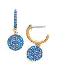 Kate Spade - Blue Shine On Pave Drop Earrings - Lyst