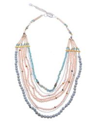 Nakamol - Multicolor Agate & Crystal Long Multistrand Necklace - Lyst