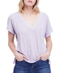 Free People - Blue Take Me Tee - Lyst