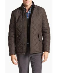 Barbour - Green 'powell' Regular Fit Quilted Jacket for Men - Lyst