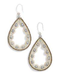 Nakamol   White Beaded Agate Teardrop Earrings   Lyst