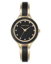 Anne Klein - Metallic Enamel Bangle Watch - Lyst