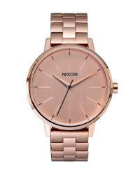 Nixon - Metallic 'the Kensington' Round Bracelet Watch - Lyst