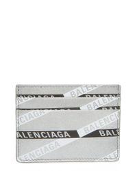 Balenciaga Everyday Multi Leather Card Case - Metallic