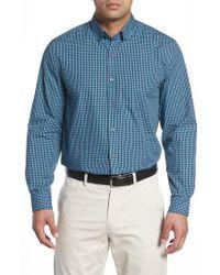 Cutter & Buck   Blue Barrett Easy Care Check Sport Shirt for Men   Lyst