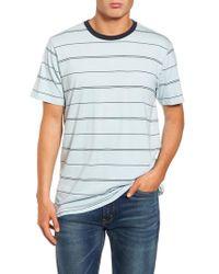 Billabong - Blue Die Cut Stripe T-shirt for Men - Lyst