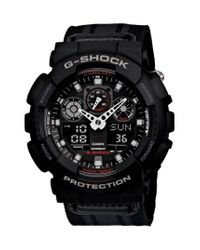 G-Shock - Black 'Xl Ana-Digi' Nylon Strap Watch - Lyst