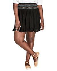 City Chic Black Makana Skirt