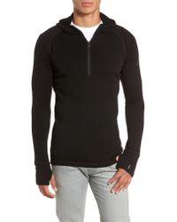 Smartwool Black Merino 250 Base Layer Hooded Pullover for men