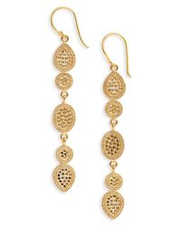 Anna Beck - Metallic Gold Multidisc Linear Drop Earrings - Lyst