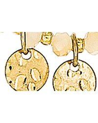 Panacea Metallic Beaded Circle Charm Necklace