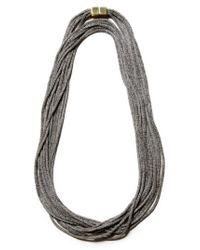 Lafayette 148 New York - Multicolor Mesh Chain Multistrand Necklace - Lyst