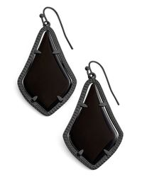Kendra Scott | Black Alexandra Earrings | Lyst