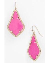Kendra Scott | Purple Alex Drop Earrings | Lyst