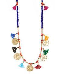 Shashi   Metallic Hazel Multistrand Necklace   Lyst