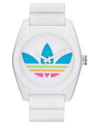 Adidas Originals   White 'santiago' Silicone Strap Watch   Lyst