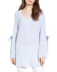 BISHOP AND YOUNG - Blue Bishop + Young Stripe Tunic Top - Lyst