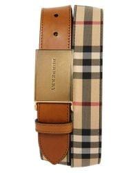 Burberry - Brown 'charles' Belt for Men - Lyst