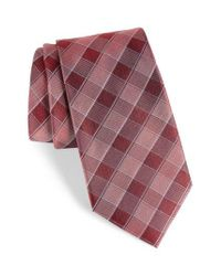 Calibrate - Purple Cobbin Plaid Silk Tie for Men - Lyst