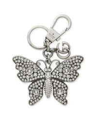 Gucci Crystal Butterfly Bag Charm - Metallic
