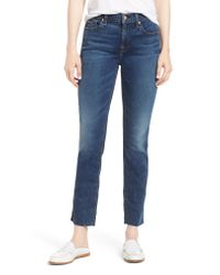 7 For All Mankind Blue 7 For All Mankind B(air) Roxanne Ankle Slim Jeans