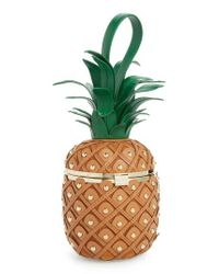 Kate Spade - Green By The Pool 3d Pineapple Leather Clutch - - Lyst
