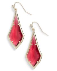 Kendra Scott - Red Olivia Drop Earrings - Lyst
