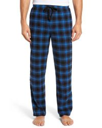 Nordstrom Blue Flannel Lounge Pants for men