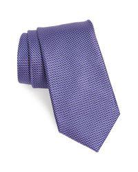 Nordstrom Purple Russo Geo Print Silk Tie for men
