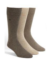 Calvin Klein Brown Assorted 3-pack Socks, Black for men