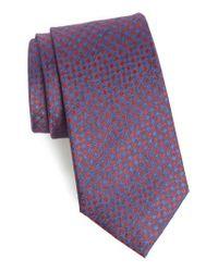 Calibrate - Red Porter Check Silk Tie for Men - Lyst