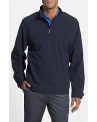 Cutter & Buck Black 'summit' Weathertec Wind & Water Resistant Half Zip Jacket for men