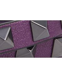 Valentino Purple Rockstud Double Leather Bracelet