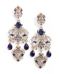 SAREH NOURI - Blue Statement Earrings - Lyst