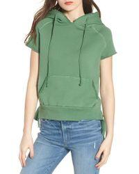 Frank & Eileen - Green Short Sleeve Pullover Hoodie - Lyst