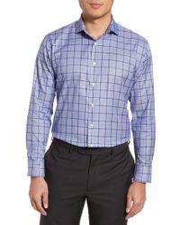 Nordstrom - Multicolor Trim Fit Check Dress Shirt for Men - Lyst