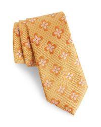 Nordstrom - Orange Floral Silk Tie for Men - Lyst