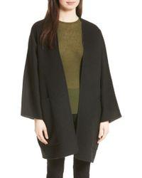 Vince - Black Reversible Wool & Cashmere Clutch Coat - Lyst