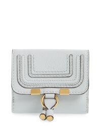 Chloé - Gray 'marcie' French Wallet - Lyst
