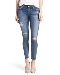 AG Jeans Blue 'the Legging' Ankle Jeans