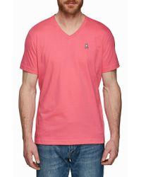 Psycho Bunny - Pink V-neck T-shirt for Men - Lyst