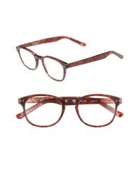 Corinne Mccormack Multicolor 'lyla' 52mm Reading Glasses - Rust Red